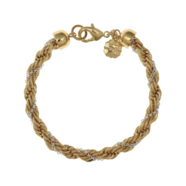 jcpenney.com | Monet® Gold-Tone and Silver-Tone Twist Flex Chain Bracelet