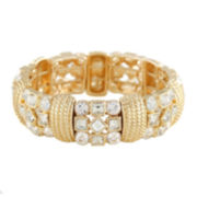Monet® Crystal and Gold-Tone Stretch Bracelet