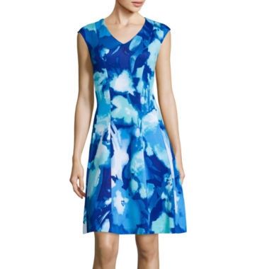 jcpenney.com | Studio 1® Sleeveless Floral Print Fit-and-Flare Dress