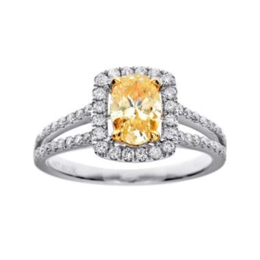 jcpenney.com | LIMITED QUANTITIES 1½ CT. T.W. White and Color-Enhanced Yellow Diamond Engagement Ring