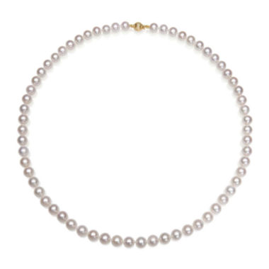 "jcpenney.com | AA Quality Cultured Freshwater Pearl 14K Yellow Gold 18"" Strand Necklace"