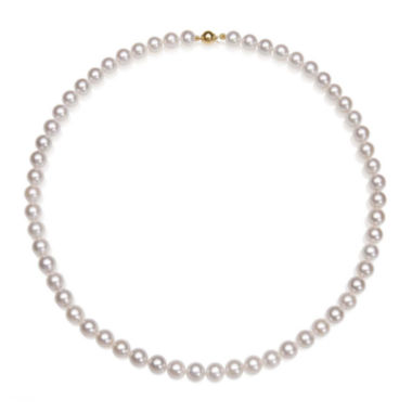 "jcpenney.com | A Quality Cultured Akoya Pearl 14K Yellow Gold 18"" Strand Necklace"