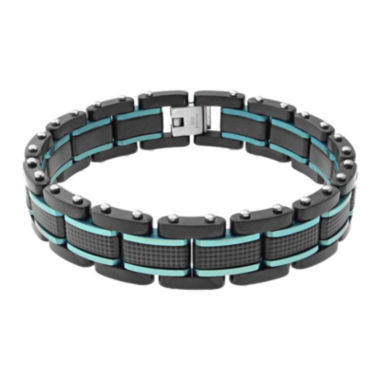 jcpenney.com | Mens Two-Tone Stainless Steel Textured Bracelet