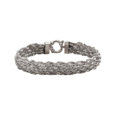 jcpenney.com |  Sterling Silver Hollow Bombe Chain Bracelet