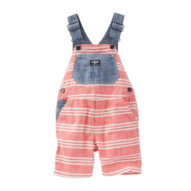 jcpenney.com | OshKosh B'gosh® Stripe Shortallss - Baby Boy 6m-24m