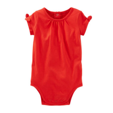 jcpenney.com | OshKosh B'gosh® Short-Sleeve Cotton Bodysuit - Baby Girls newborn-24m