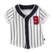 OshKosh B'Gosh® Short-Sleeve Baseball Cotton Shirt - Baby Boys newborn-24m