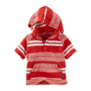 OshKosh B'gosh® Short-Sleeve Striped Hooded Top - Baby Boys newborn-24m