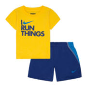 Nike® 2-pc Tee and Shorts Set - Baby Boys newborn-24m
