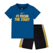 Nike® 2-pc Tee and Shorts Set - Baby Boys 12m-24m