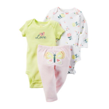 jcpenney.com | Carter's® 3-pc. Butterfly Layette Set - Baby Girls newborn-24m