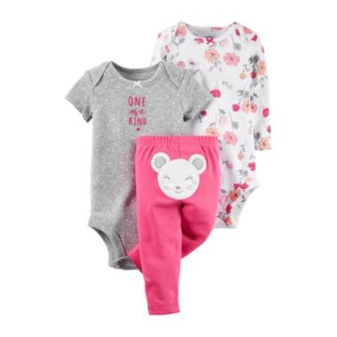 jcpenney.com | Carter's® 3-pc. Mouse Layette Set - Baby Girls newborn-24m