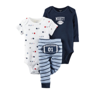 jcpenney.com | Carter's® 3-pc. Football Layette Set - Baby Boys newborn-24m