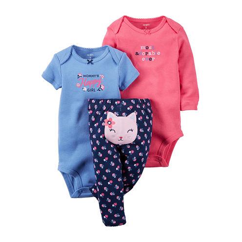 Carter's® 3-pc. Cat Layette Set - Baby Girls newborn-24m