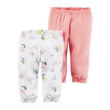 jcpenney.com | Carter's® 2-pk. Pants - Baby Girls newborn-24m