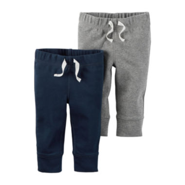 jcpenney.com | Carter's® 2-pk. Navy and Heather Pants - Baby Boys newborn-24m