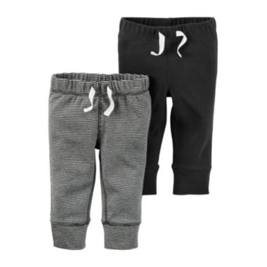 jcpenney.com | Carter's® 2-pk. Grey Stripe and Charcoal Pants - Baby Boys newborn-24m