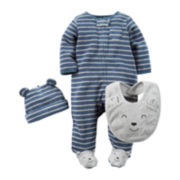 Carter's® 3-pc. Footed Bear Layette Set - Baby Boys newborn-24m