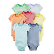 Carter's® 7-pk. Short-Sleeve Rainbow Striped Bodysuits - Babies newborn-24m