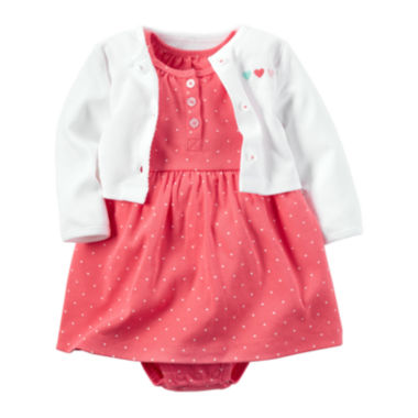 jcpenney.com | Carter's® 2-pc. Polka Dot Dress & Cardigan Set - Baby Girl Newborn-24m
