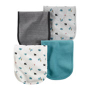 Carter's® 4-pk. Bear Print Blue Burp Cloths - Baby Boys newborn-24m