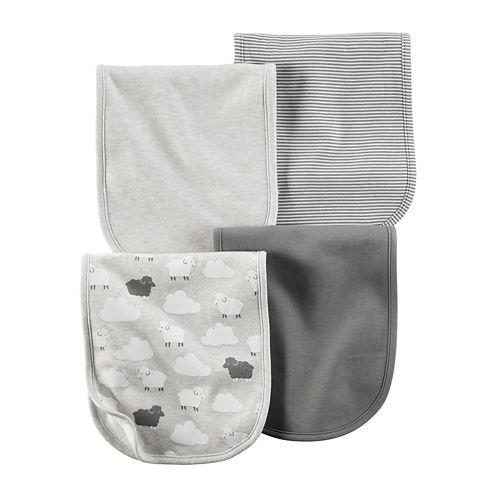 Carter's® 4-pk. Grey Sheep Burp Cloths - Babies newborn-24m