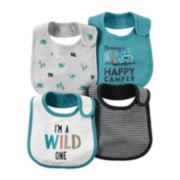 Carter's® 4-pk. Wild Print Blue Bibs - Baby Boys newborn-24m