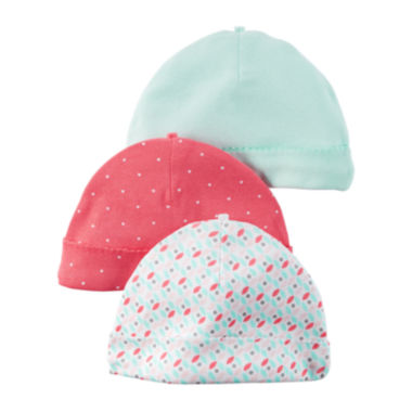 jcpenney.com | Carter's® 3-pk. Dot Hats - Baby Girls newborn-24m