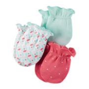 Carter's® 3-pk. Pink Polka Dot Mittens - Baby Girl newborn-24m