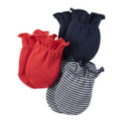 Carter's® 3-pk. Navy Striped Sports Mittens - Baby Boys newborn-24m