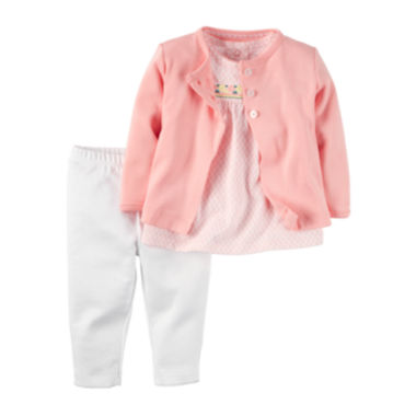 jcpenney.com | Carter's® 3-pc. Pink Floral Cardigan Set - Baby Girls newborn-24m