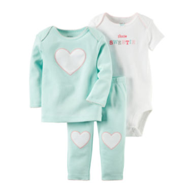 jcpenney.com | Carter's® 3-pc. Blue Heart Layette Set - Baby Girls newborn-12m