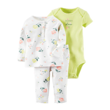 jcpenney.com | Carter's® 3-pc. Floral Layette Set - Baby Girls newborn-12m