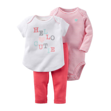 jcpenney.com | Carter's® 3-pc. Hello Layette Set - Baby Girls newborn-24m
