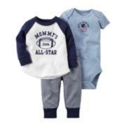 Carter's® 3-pc. Long-Sleeve Bodysuit, Top & Pants Set - Baby Boys newborn-24m