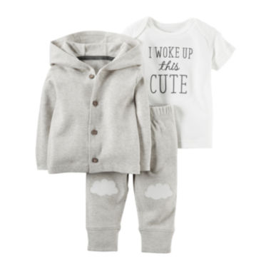 jcpenney.com | Carter's® 3-pc. Neutral Cardigan Set - Nb-24M