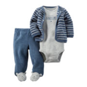 Carter's® 3-pc. Bear Footed Layette Set - Baby Boys newborn-24m
