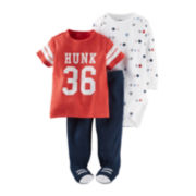 Carter's® 3-pc. Hunk Footed Layette Set - Baby Boys newborn-24m