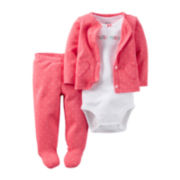 Carter's® 3-pc. Hearts Footed Layette Set - Babies Girls newborn-24m