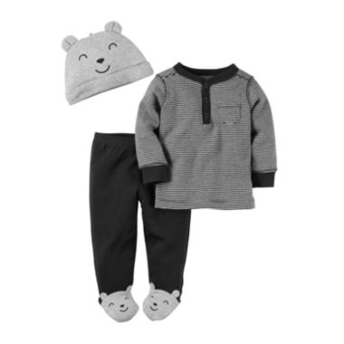 jcpenney.com | Carter's® 3-pc. Bear Footed Layette Set - Baby Boys newborn-24m