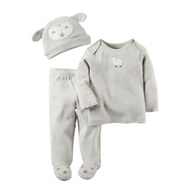 jcpenney.com | Carter's® 3-pc. Lamb Footed Layette Set - Babies newborn-24m