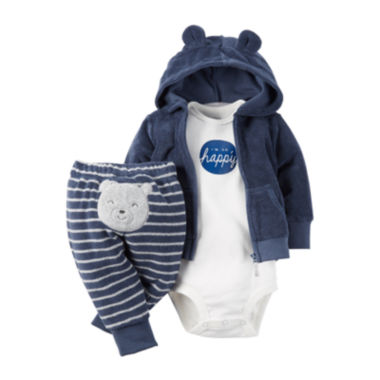 jcpenney.com | Carter's® 3-pc. Bear Hooded Layette Set - Baby Boys newborn-24m