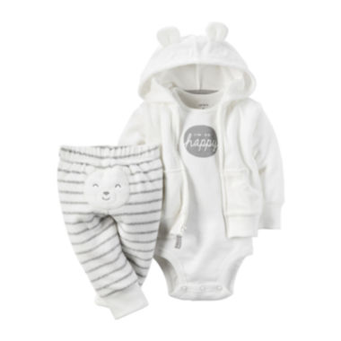 jcpenney.com | Carter's® 3-pc. Hooded Cardigan Layette Set - Babies newborn-24m