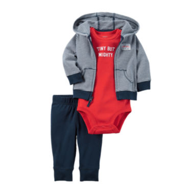 jcpenney.com | Carter's® 3-pc. Navy Striped Layette Set - Baby Boys newborn-24m