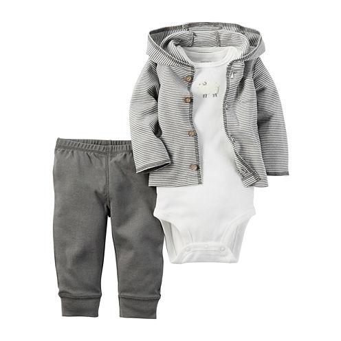 Carter's® 3-pc. Stripe Hooded Layette Set - Babies newborn-24m