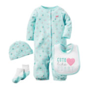 Carter's® 4-pc. Heart Layette Set - Baby Girls newborn-24m