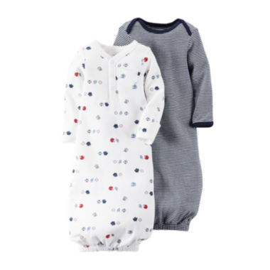 jcpenney.com | Carter's® 2-pk. Sport Gowns - Baby Boys one size  fits newborn