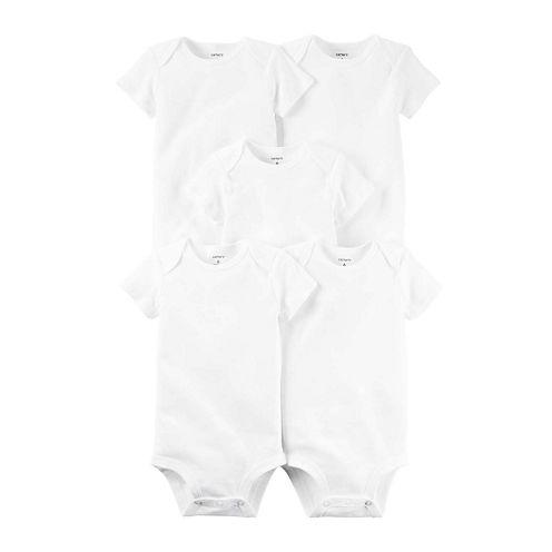Carter's® 5-pk. Short-Sleeve White Bodysuits - Babies newborn-24m