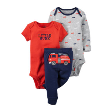 jcpenney.com | Carter's® 3-pc Fire Truck Layette Set - Baby Boys newborn-24m