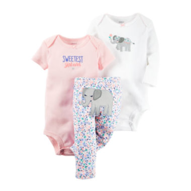 jcpenney.com | Carter's® 3-pc Elephant Layette Set - Baby Girls newborn-24m